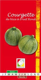 Graines de courgette de Nice à fruit rond
