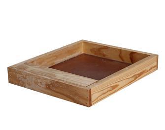 Plaque nourrisseuse en bois pour ruche Dadant