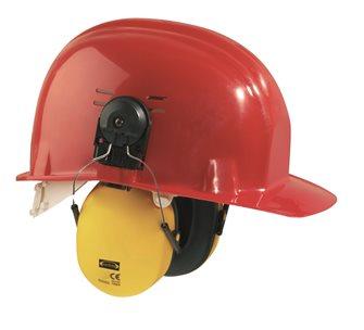 Casque antibruit avec adaptateur pour casque de chantier