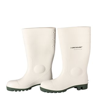 Bottes de sécurité Dunlop blanches en taille 37