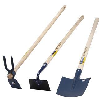 Set 3 outils de jardin potager bêche serfouette binette