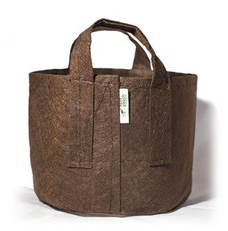 Pot géotextile à poignées marron 56 litres