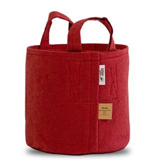 Pot géotextile à poignées rouge 16 litres